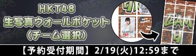 HKT48 生写真ウォールポケット(チーム選択)