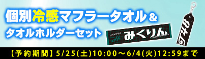 HKT48 個別冷感マフラータオル&タオルホルダー